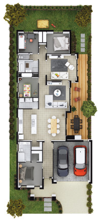 Sample house block 12.5M single storey